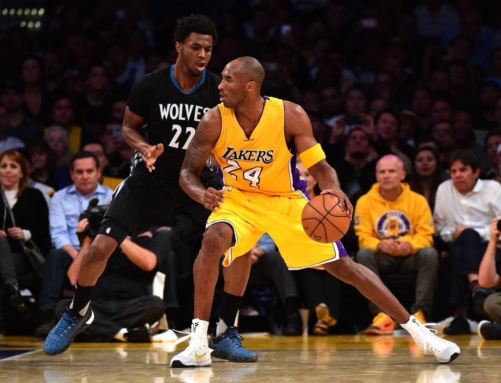 Kone Bryant had worn the jersey in the Lakers match at the Staples Center against Minnesota Timberwolves ©Getty Images