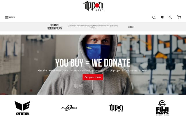 Ippon Gear will donate a mask for every mask bought ©Ippon Gear