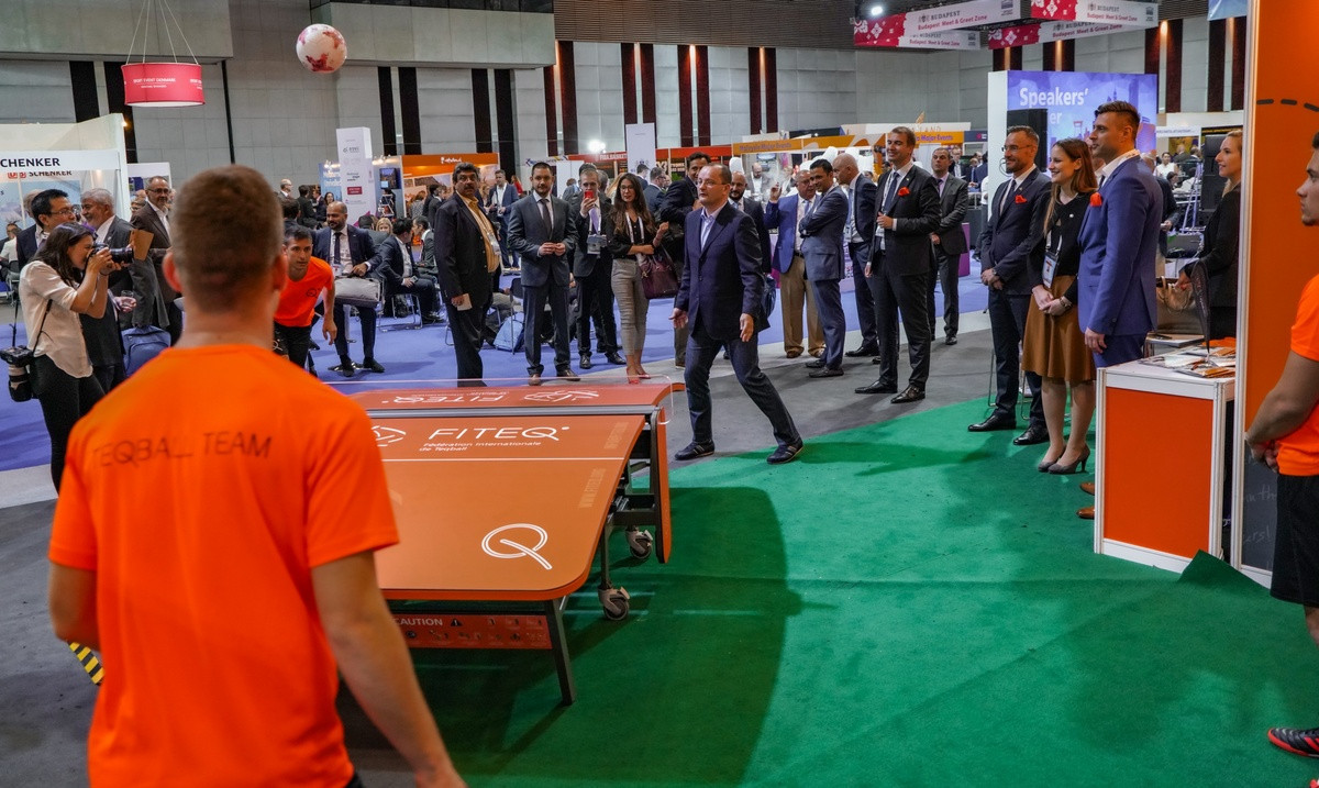 Teqball has previously featured at SportAccord ©FITEQ