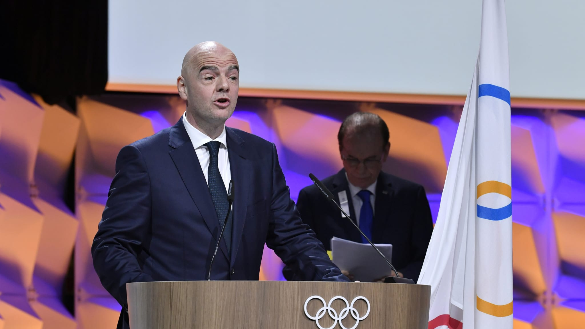 Gianni Infantino was elected as a member of the International Olympic Committee in January ©FIFA