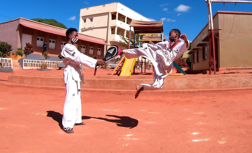 Around 60 athletes took part in the competition ©Embassy of South Korea in Madagascar