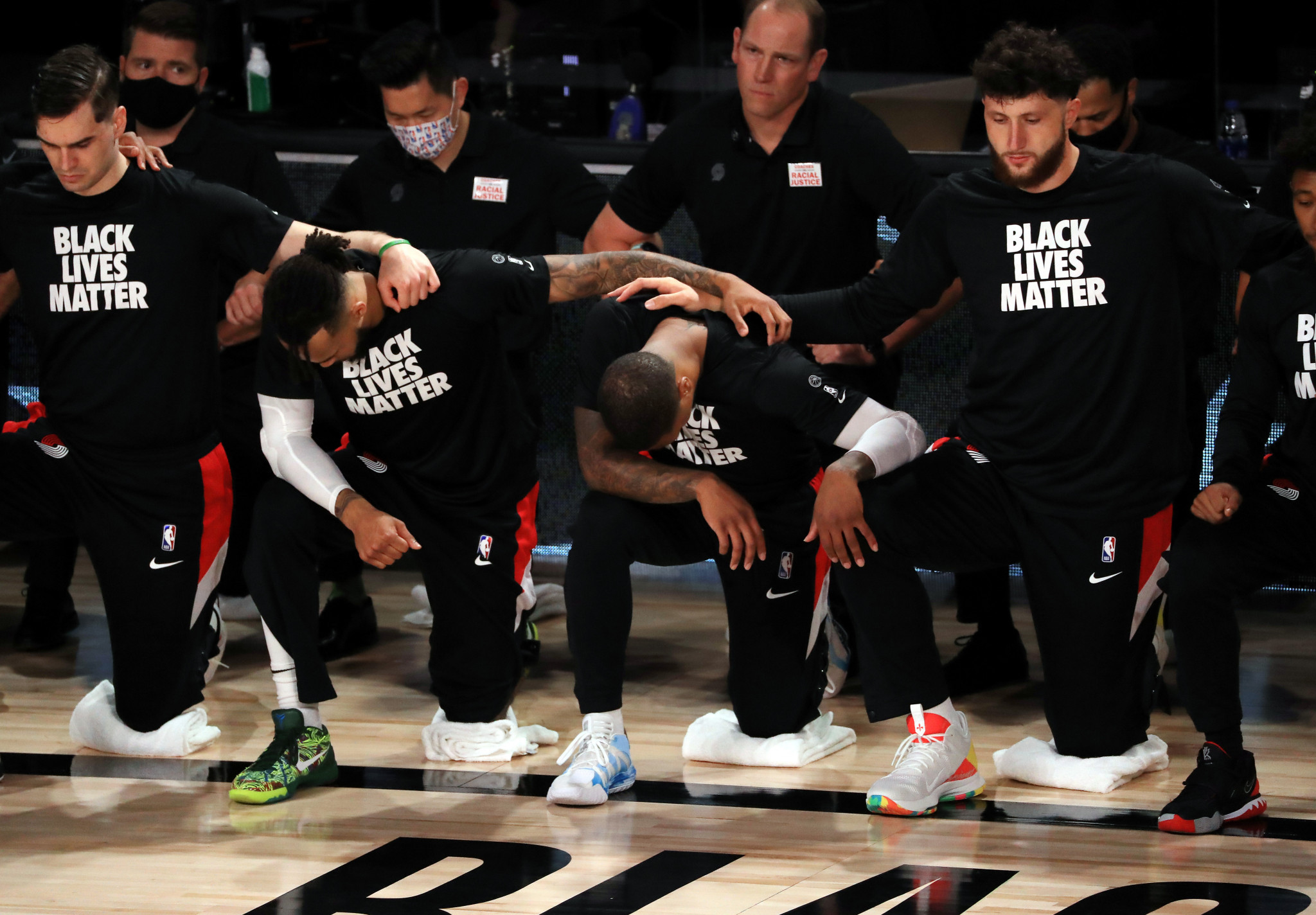 The National Basketball Association this week became the latest league to include support for the Black Live Matter movement into its restart ©Getty Images