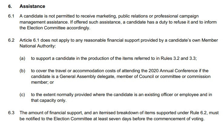 Consultants have been banned from working with candidates in the World Sailing Presidential election ©World Sailing