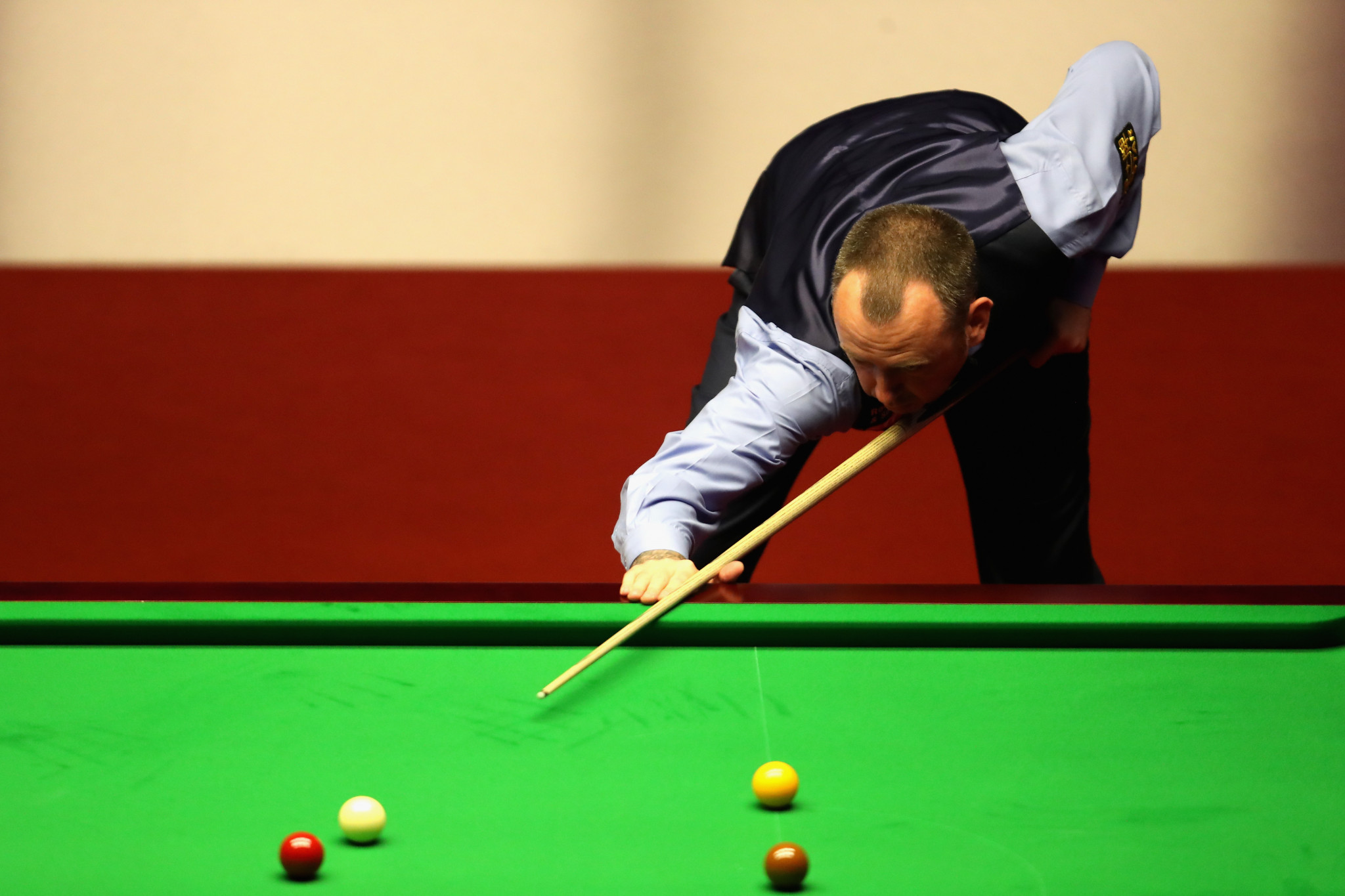 Three-time world champion Mark Williams also triumphed on day two of the World Snooker Championship in Sheffield ©Getty Images