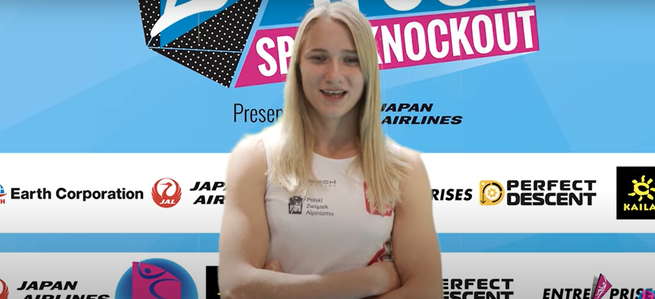 Aleksandra Kalucka came out on top in the women's event ©IFSC