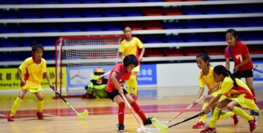 Love Chengdu Welcome Universiade floorball competition takes place as part of city's Sports Games