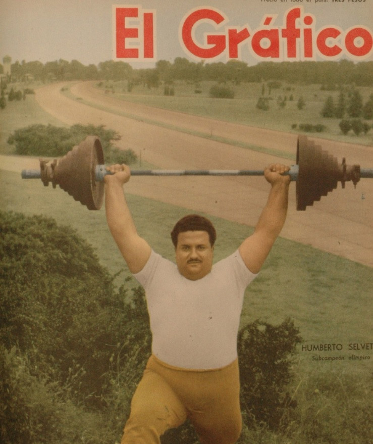 "Posthumous award for tango-loving ""fat one"" Selvetti, South America's first Olympic weightlifting medallist"