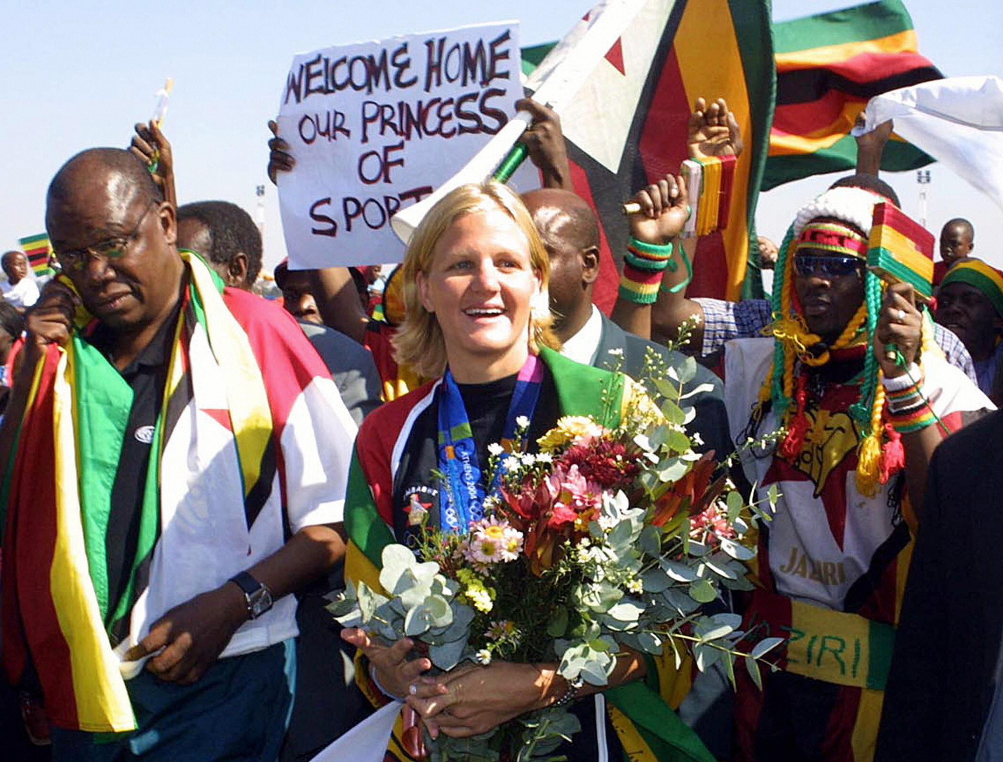 The hockey team's Olympic medal is Zimbabwe's only one not won by Kirsty Coventry ©Getty Images