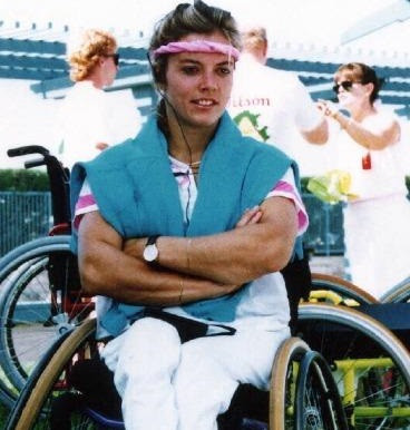 Ellen de Lange competed in wheelchair tennis tournaments at two Paralympic Games ©ITF