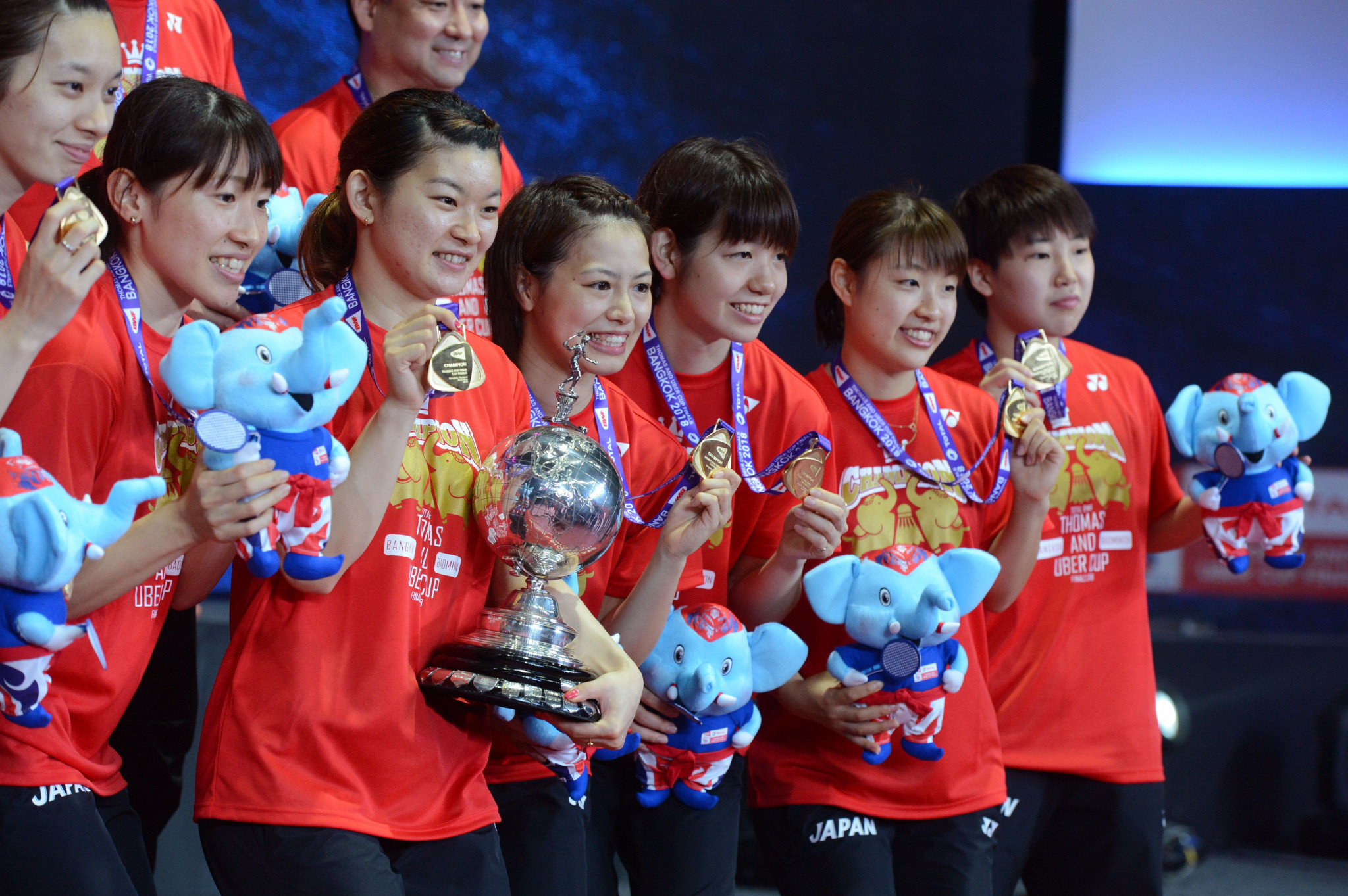 Japan will compete in this year's Uber Cup as defending champions and top seeds ©Getty Images