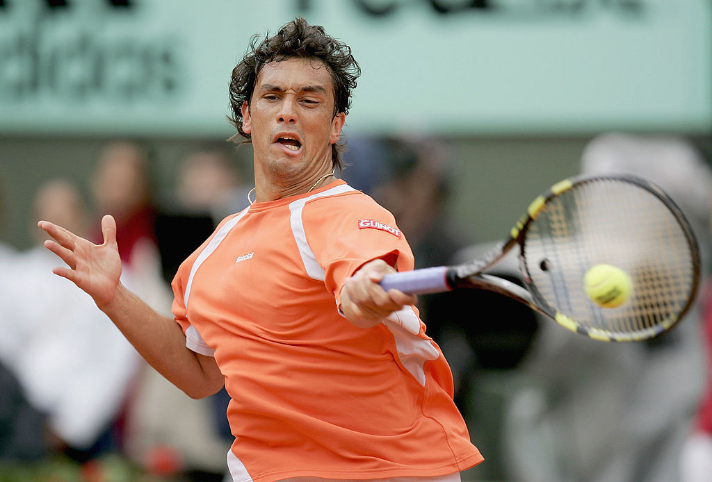 Mariano Puerta lost the 2005 French Open final to Rafael Nadal ©Getty Images