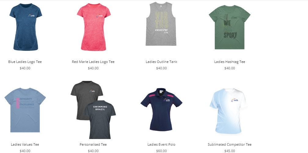 The men's and women's range includes t-shirts, polo shorts and jackets ©Virtus/Lifestyle Australia