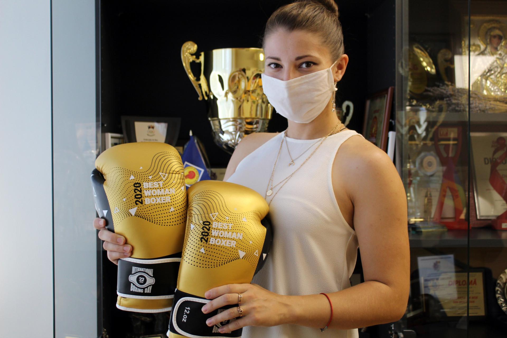 Julia Koroli won the women's prize ©AIBA