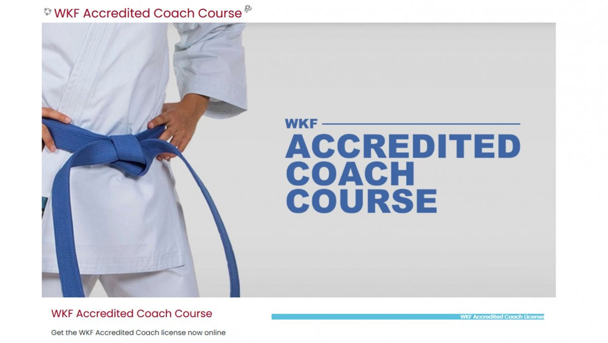 World Karate Federation launches online accredited coach course