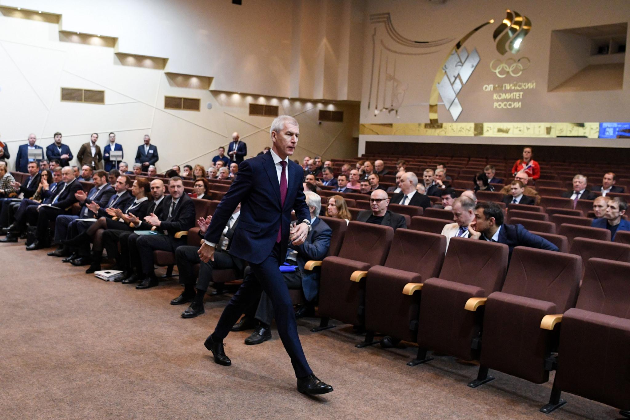 Russian Sports Minister Oleg Matytsin gave a last-ditch
