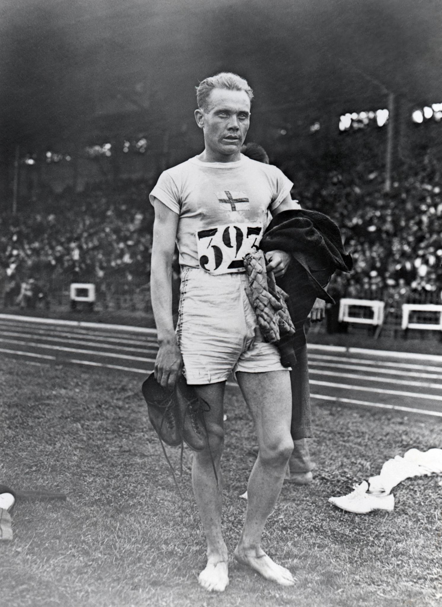 Paavo Nurmi won three gold medals in Antwerp ©Getty Images