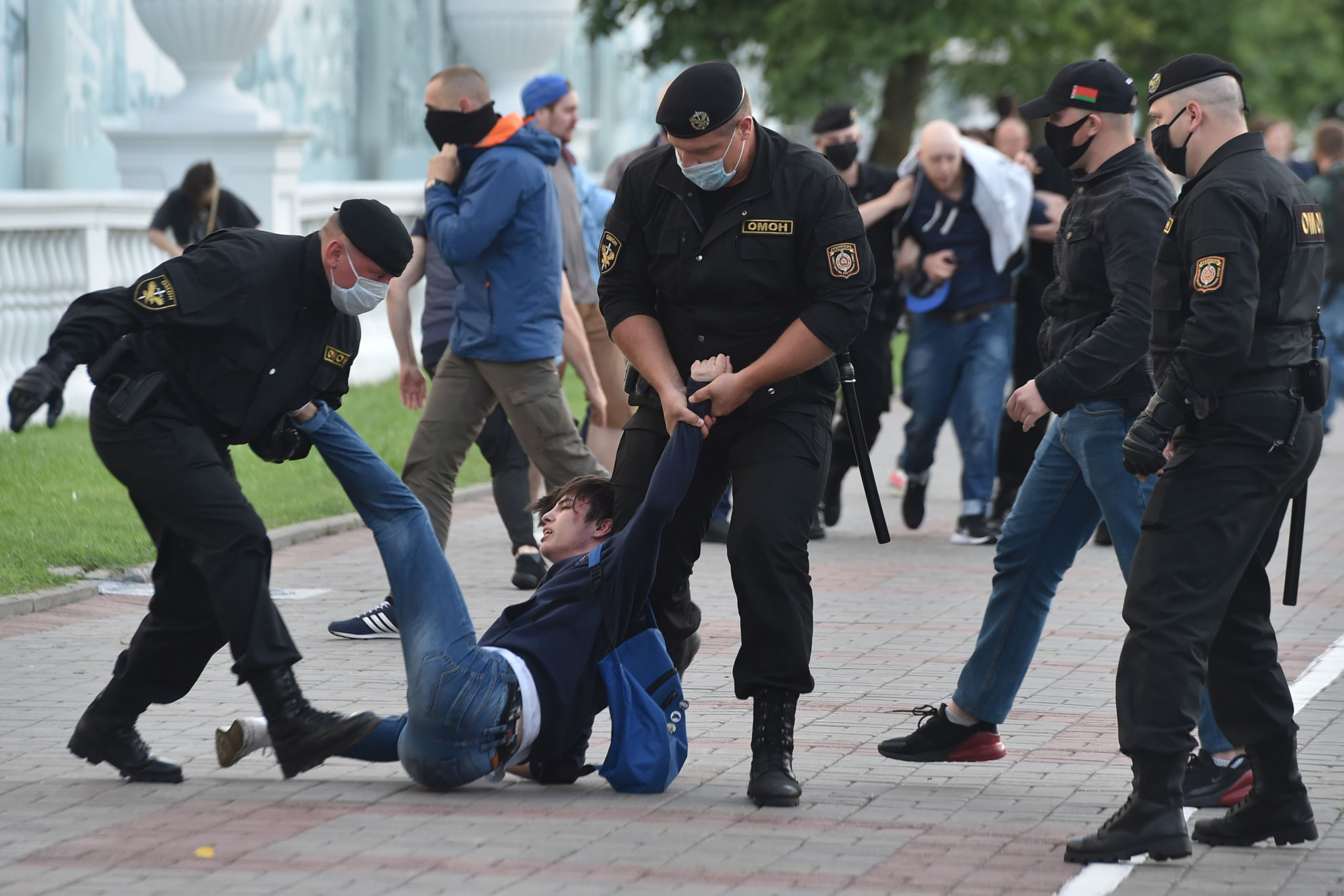 The election result in Belarus has been followed by violent protests ©Getty Images