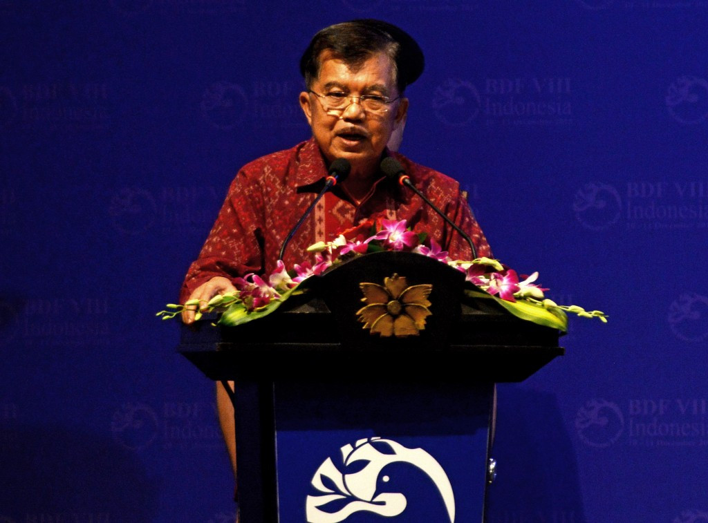 Indonesia vice-president Yusuf Kalla was in attendance at the unveiling of the mascot and logo for the 2018 Asian Games