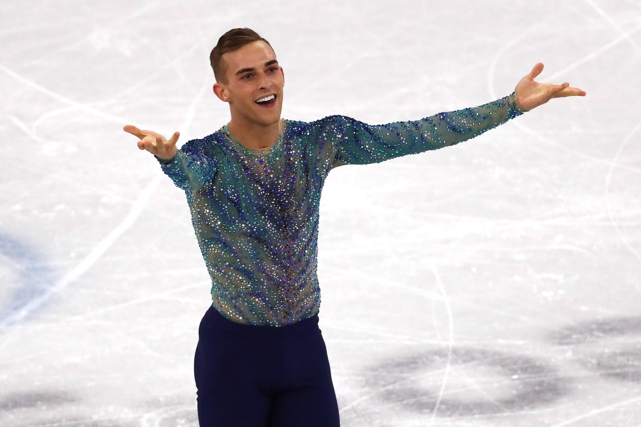 The United States' Adam Rippon is one of the most prominent LGBT skaters in the world ©Getty Images