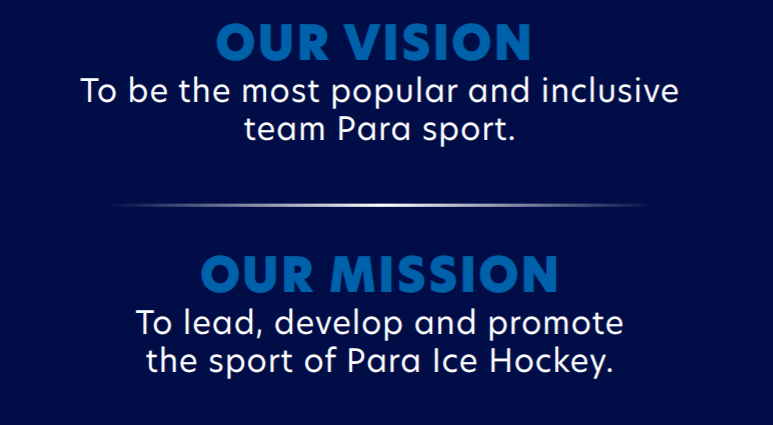 World Para Ice Hockey outlined its vision and mission in the document ©World Para Ice Hockey
