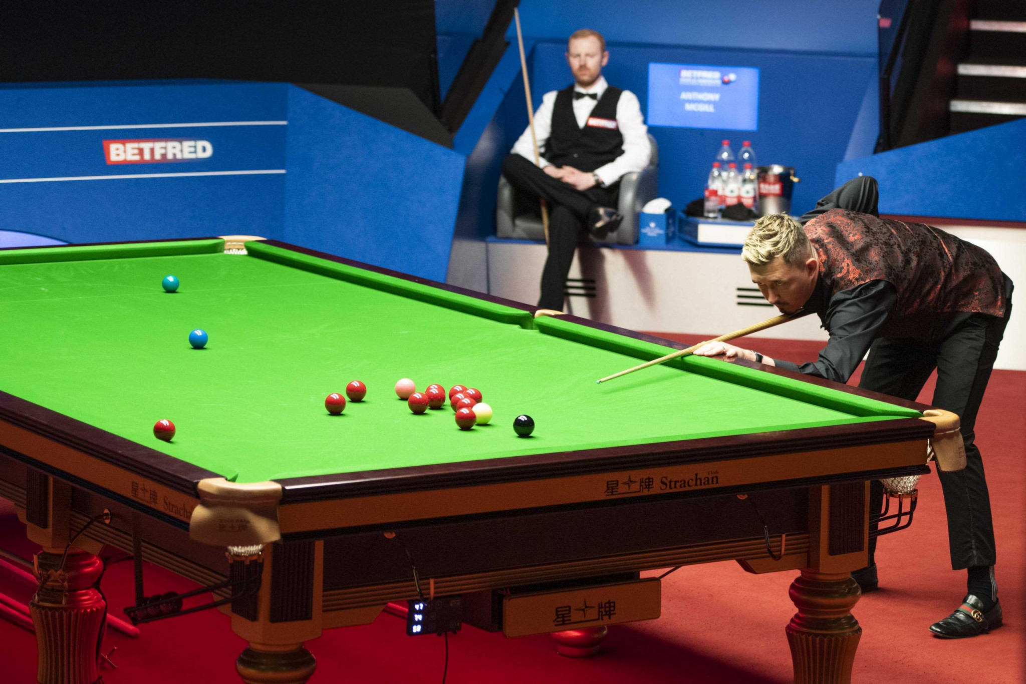 There will be an all-English final at the World Snooker Championship in Sheffield after Kyren Wilson defeated Scotland's Anthony McGill in the semi-final ©World Snooker
