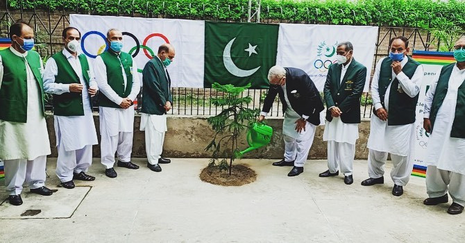 Pakistan NOC plants trees to mark Independence Day