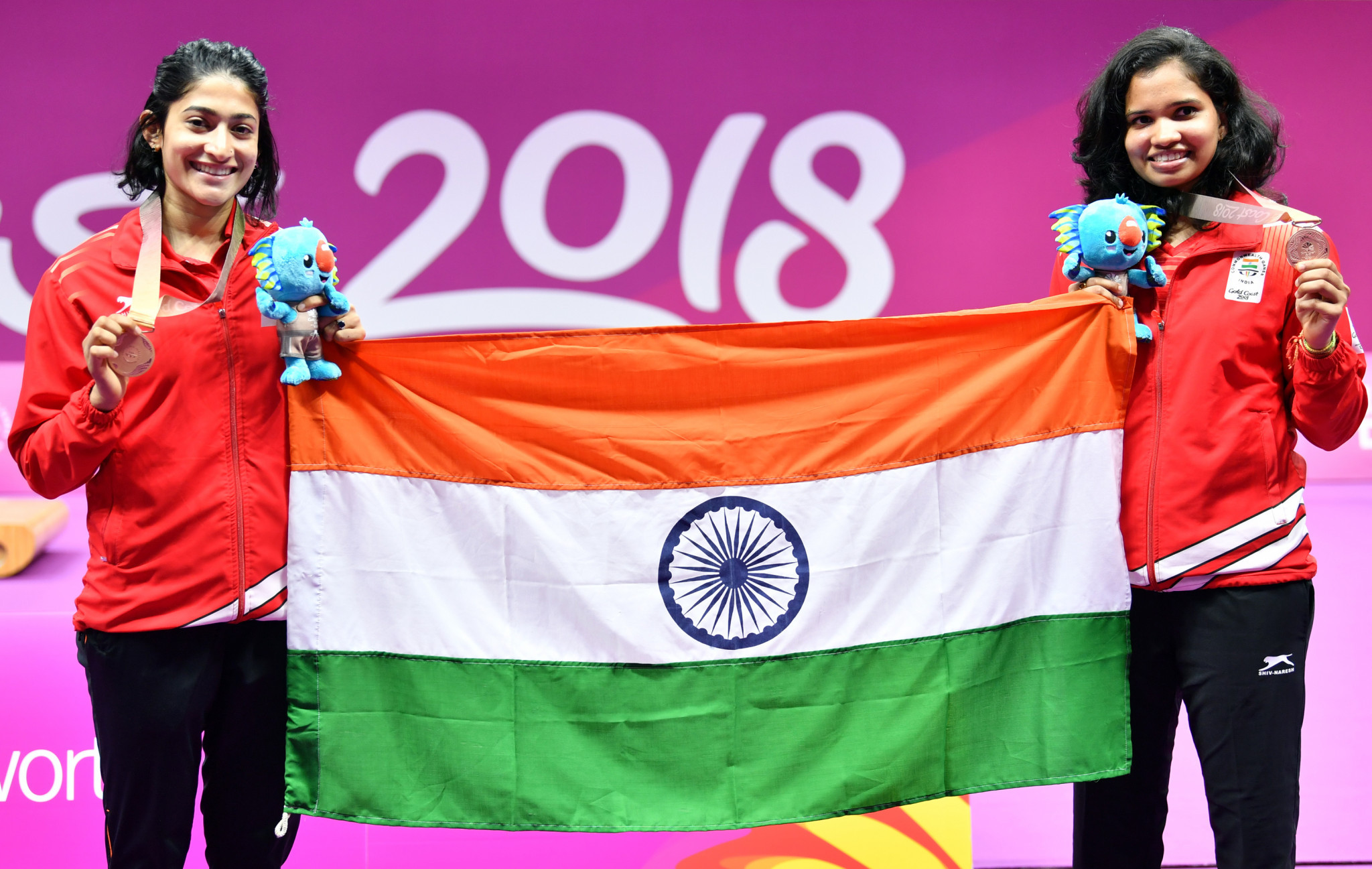 N Sikki Reddy, right, is a double Commonwealth Games medallist from 2018 ©Getty Images