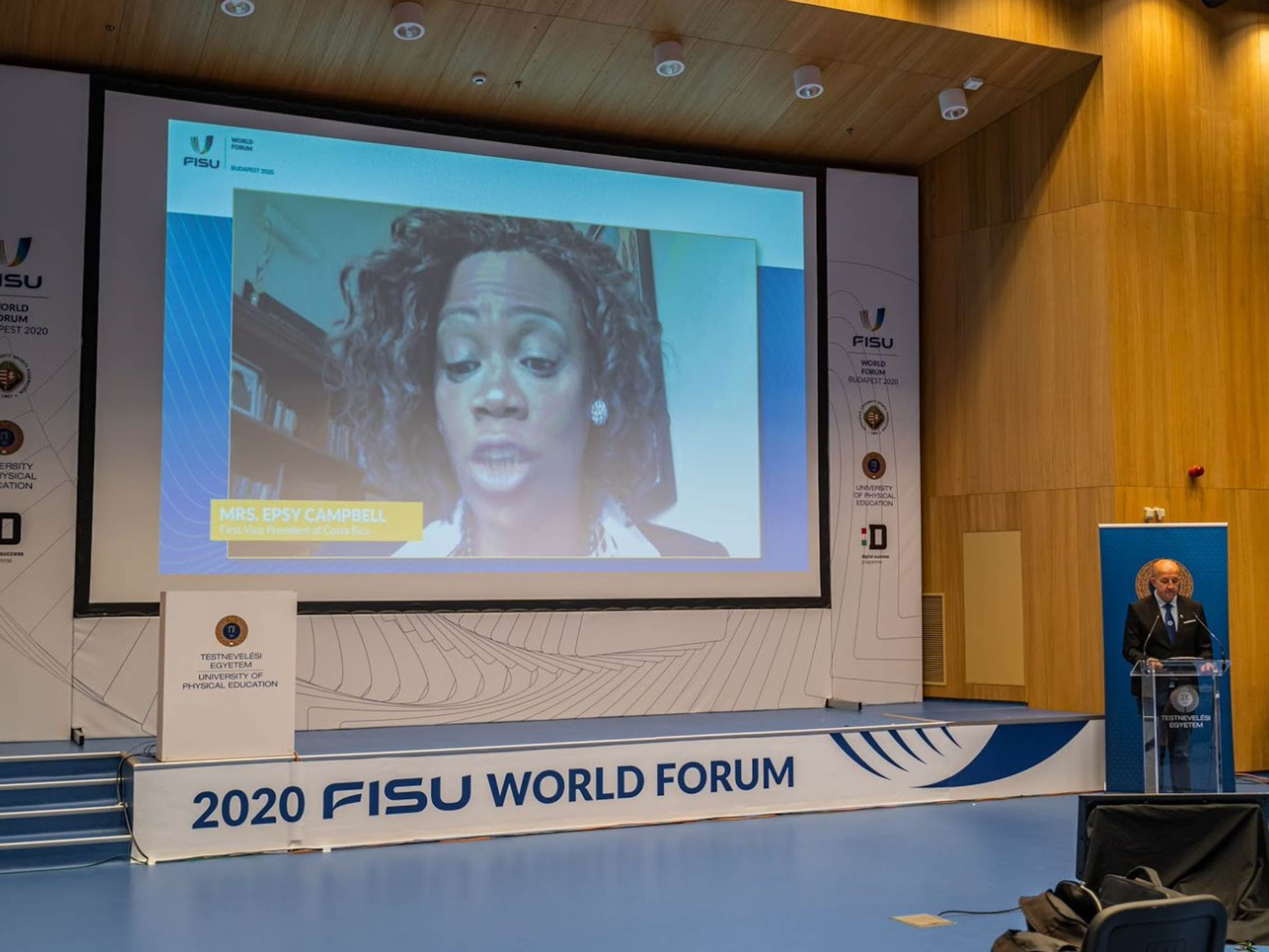 Costa Rican first vice president Epsy Campbell invited attendees to the 2022 FISU World Forum ©FISU
