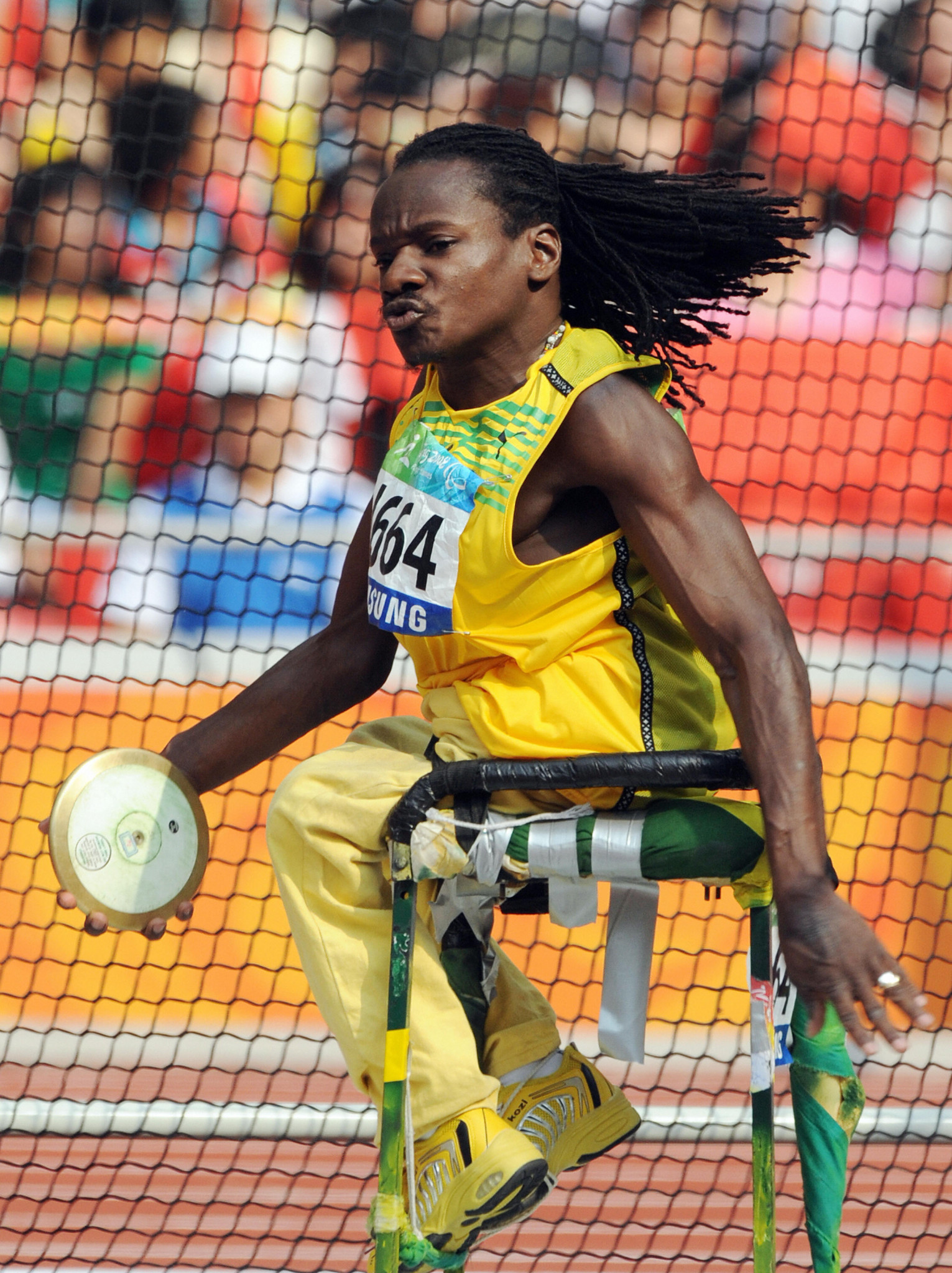 Alphanso Cunningham is a double Paralympic champion in throwing events ©Getty Images