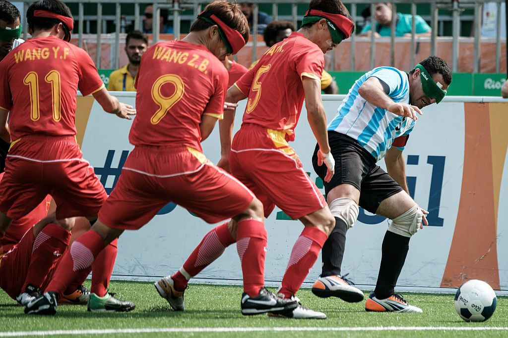 The top blind football teams are set to be in action at the 2023 IBSA World Games ©Getty Images