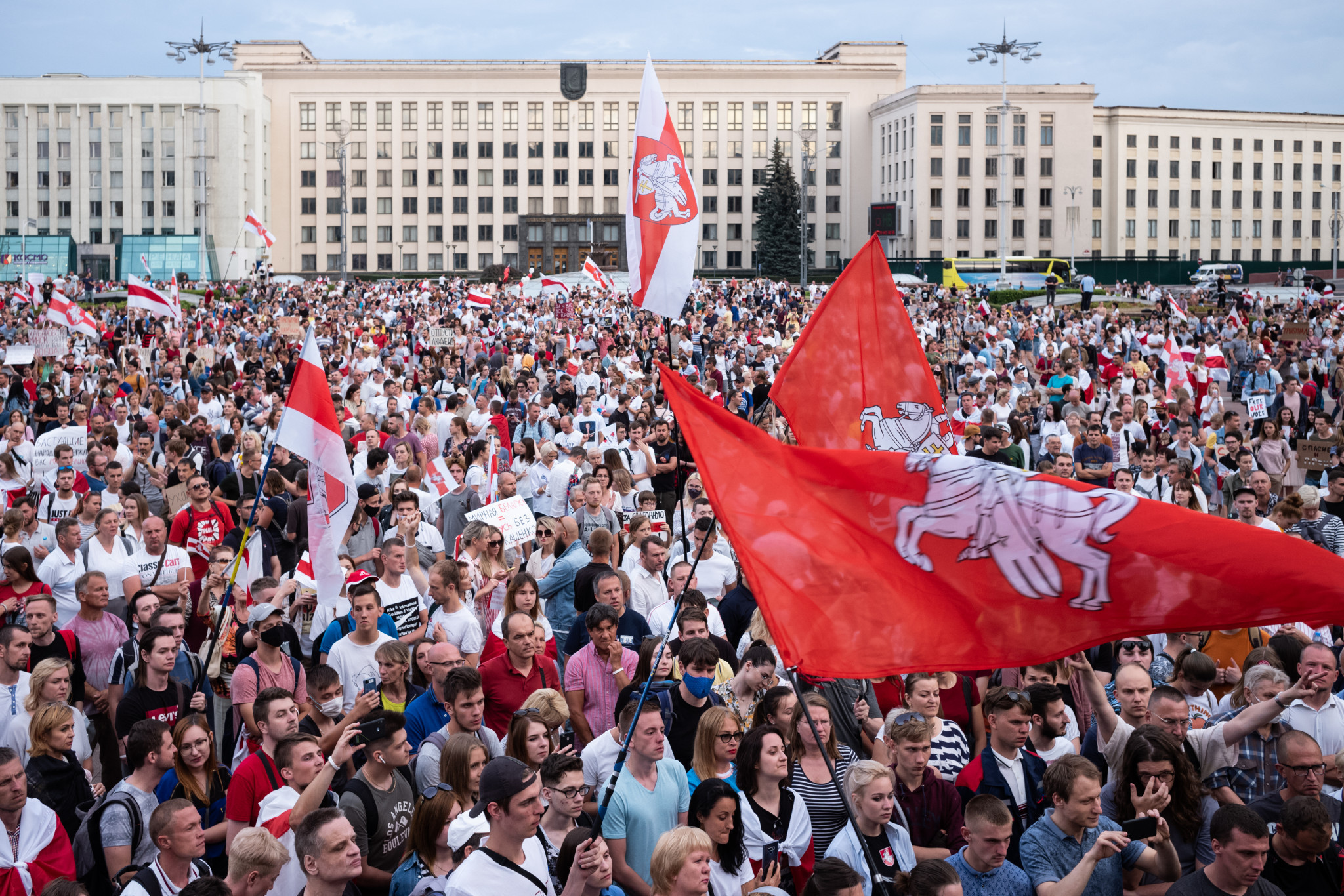 Belarus has been protesting against the Government for the past three months ©Getty Images