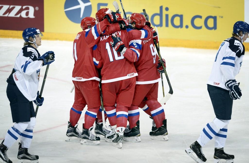 Russia strike back to beat hosts and maintain perfect start to IIHF World Junior Championship