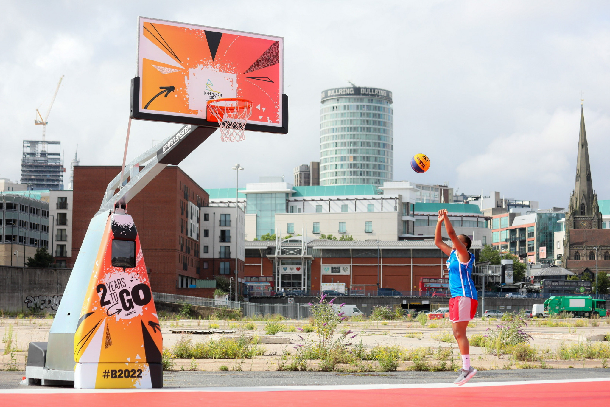 The 3x3 basketball venue for Birmingham 2022 was recently unveiled at Smithfield ©Birmingham 2022