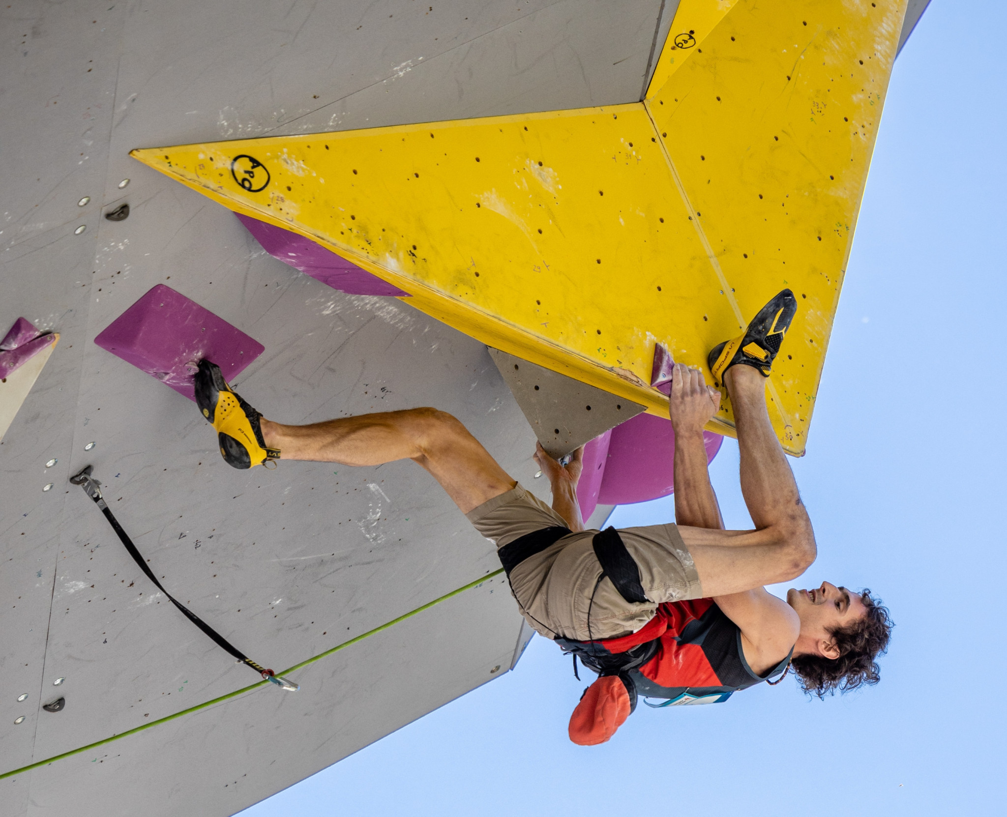 The Czech Republic's Adam Ondra claimed his 23rd gold medal in the IFSC World Cup with victory in Briançon ©IFSC