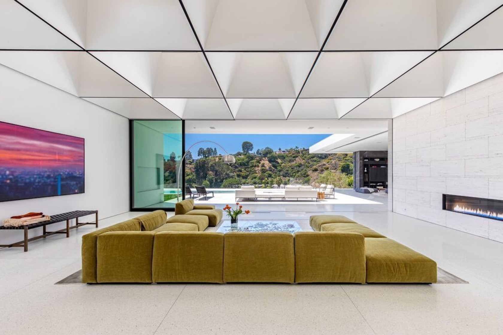 The ceilings in Casey Wasserman's new house cost $1 million alone, it has been reported ©Realtor.com