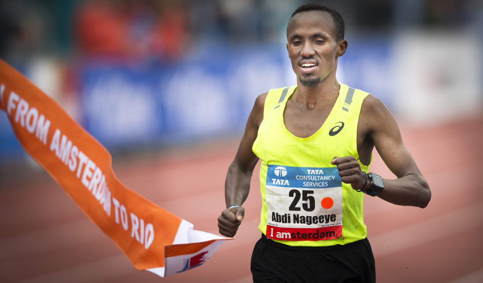 Dutch record holder Abdi Nageeye was due to headline the men's field ©Getty Images