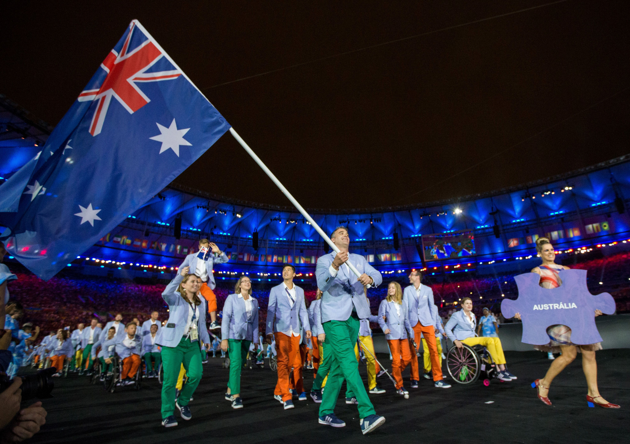 The Australian Paralympic team are among those marking one year to go until Tokyo 2020 ©Getty Images