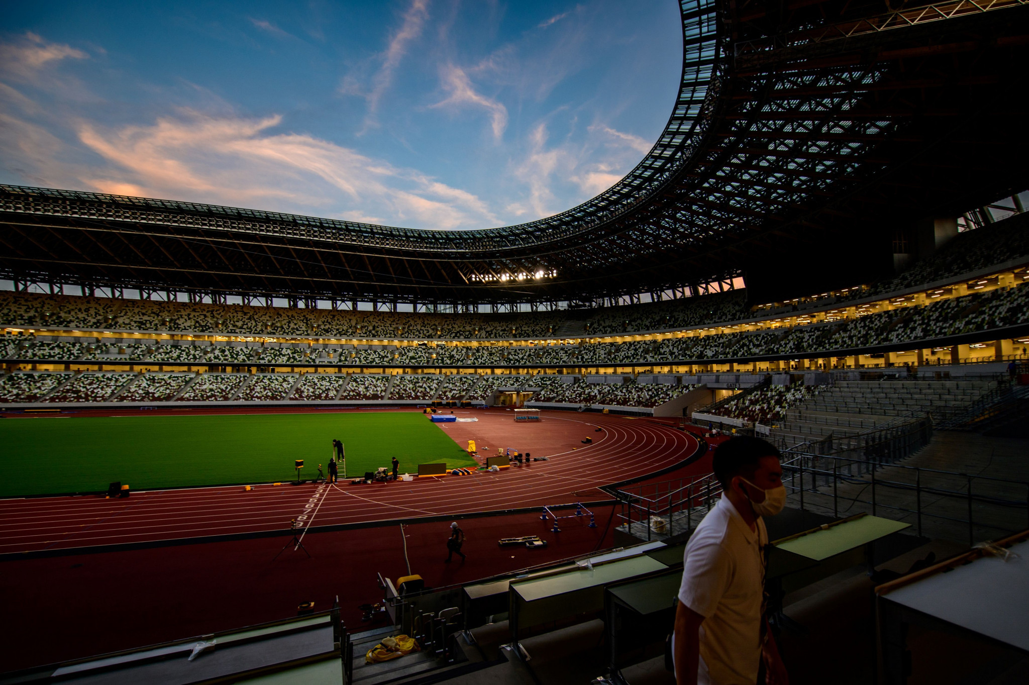 Tokyo's Olympic Stadium put through paces with athletics meeting