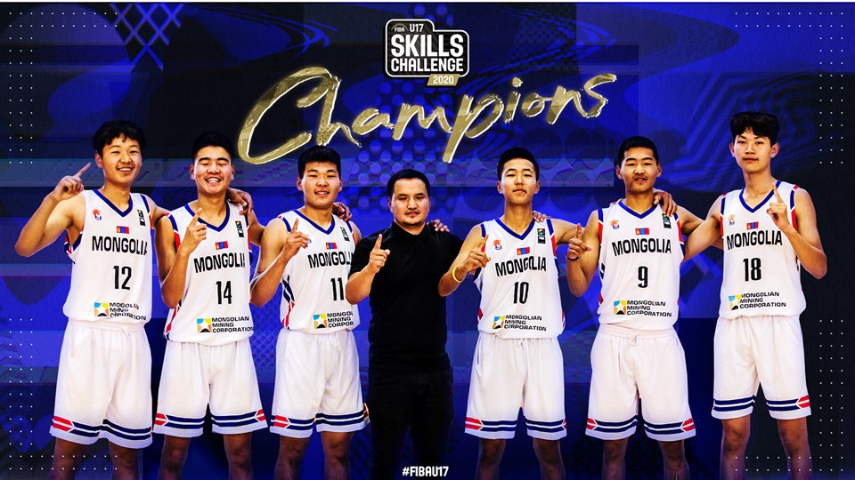 Mongolia and China win in first FIBA Under 17 Global Skills Challenges