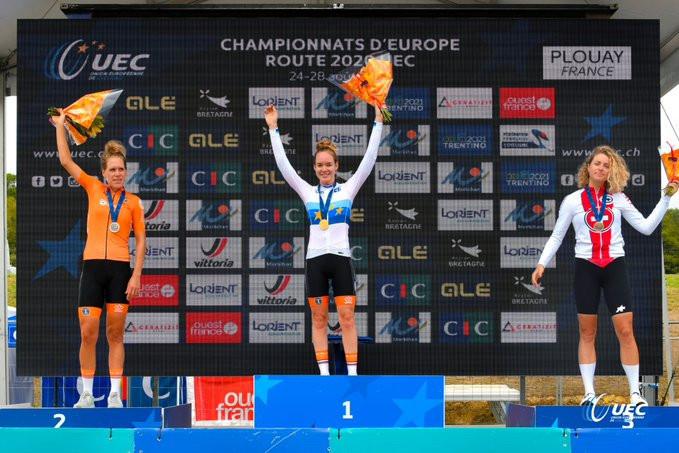 Van der Breggen and Küng earn time trial titles at Road European Championships