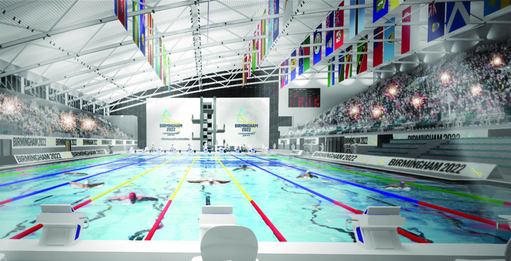 Officials at Sandwell Council are confident that the Birmingham 2022 Aquatics Centre will be constructed on time ©Birmingham 2022