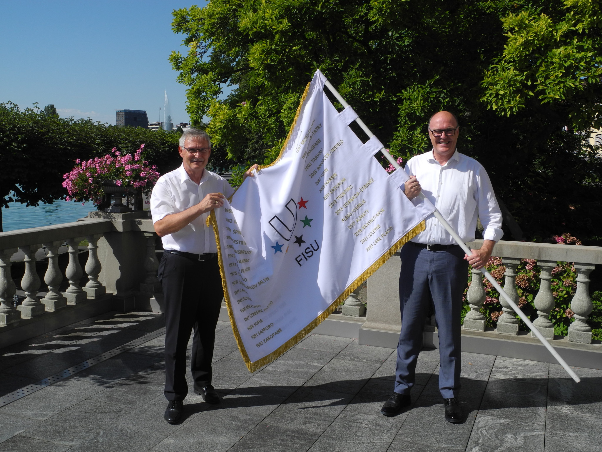 FISU flag reaches penultimate stop ahead of Lucerne 2021
