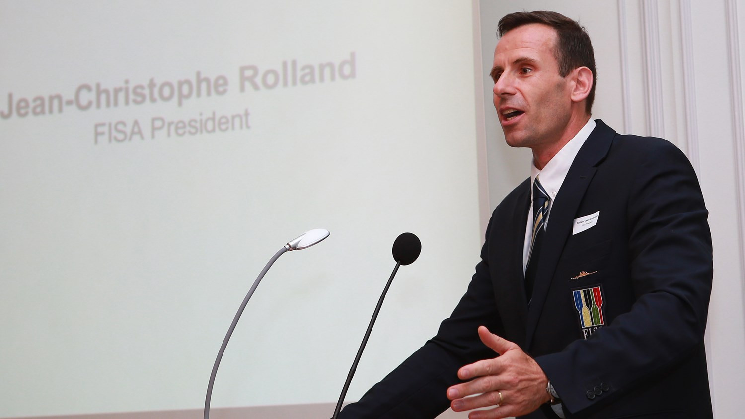"""World Rowing President Jean-Christophe Rolland has admitted that the organisation is """"highly dependent"""" on Olympic revenue © FISA/Igor Meijer"""
