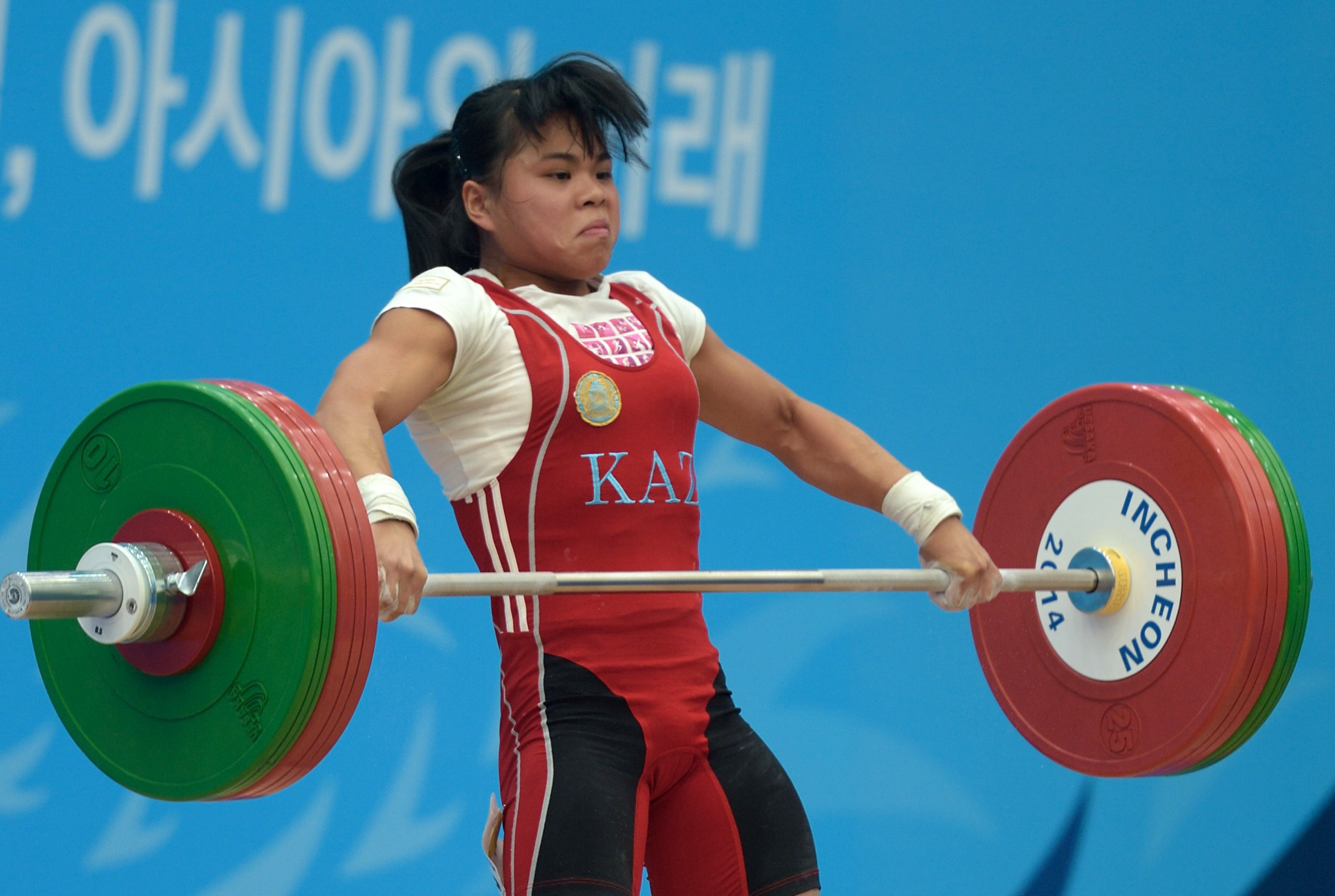 Kazakhstan's Zulfiya Chinshanlo is among the lifters expected to compete ©Getty Images