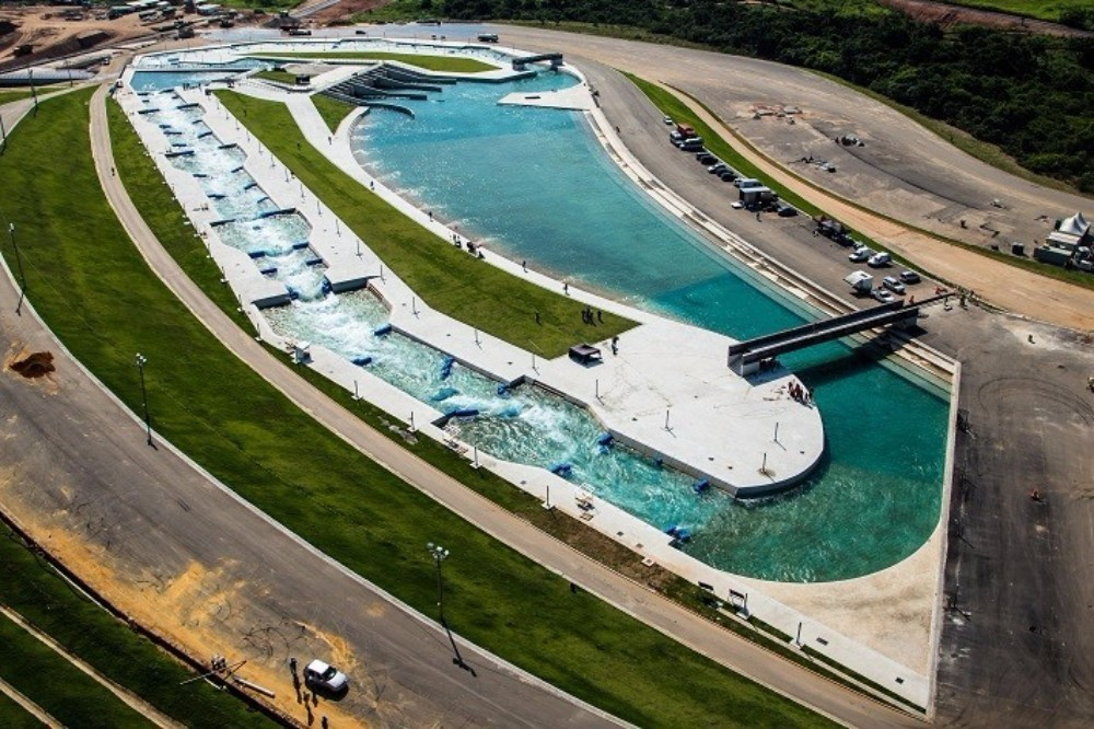 The Whitewater course, which will host canoe slalom, has been completed