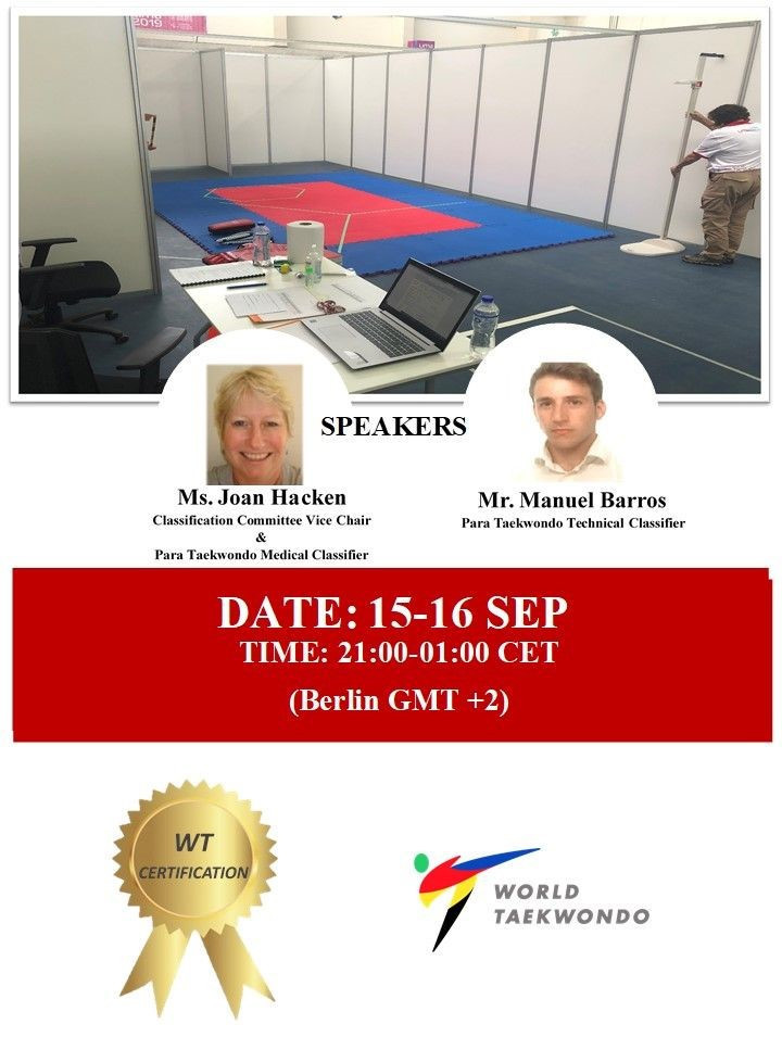 Joan Hacken and Manuel Barros will be the guest speakers for the first course ©World Para Taekwondo