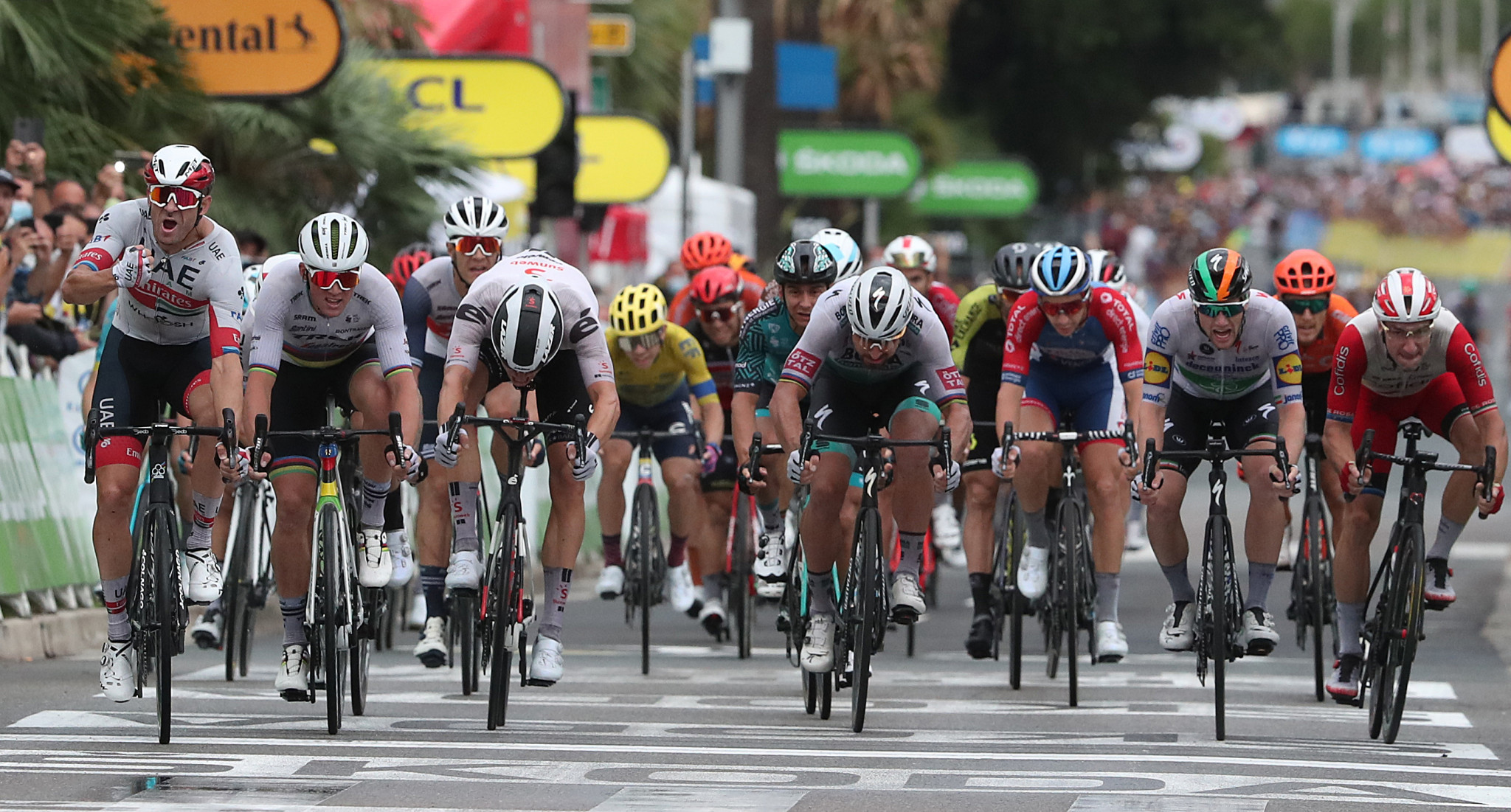 Kristoff takes first yellow jersey on crash filled opening day of Tour de France
