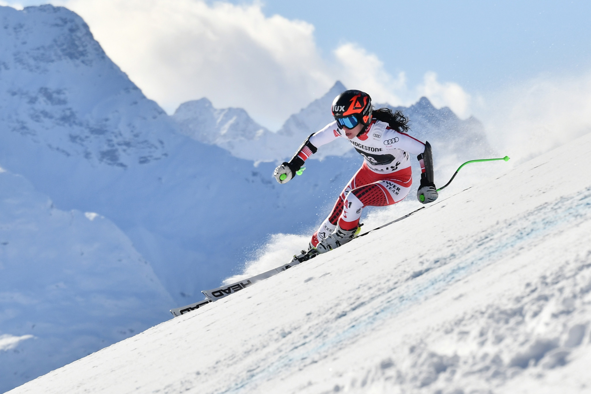Austria's Brunner returns to snow training 12 months after tearing ACL