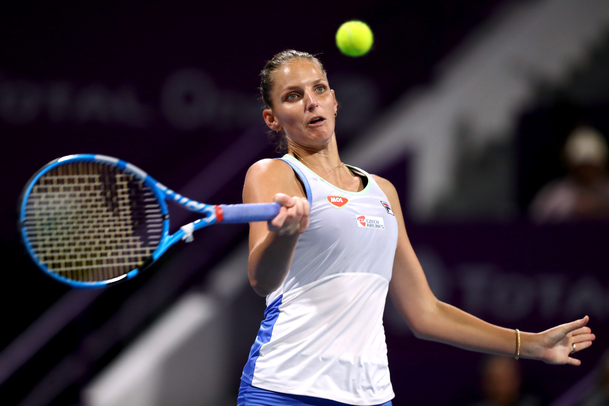 Karolína Plíšková of the Czech Republic will aim to take advantage of a number of high-profile withdrawals from the US Open ©Getty Images