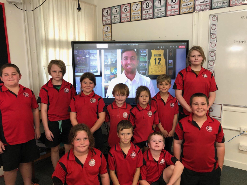 Hockey star delivers AOC's 1,000th Olympics Unleashed school visit